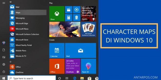 Character Maps Pada Windows 10