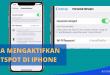 Cara Mengaktifkan Hotspot di iPhone